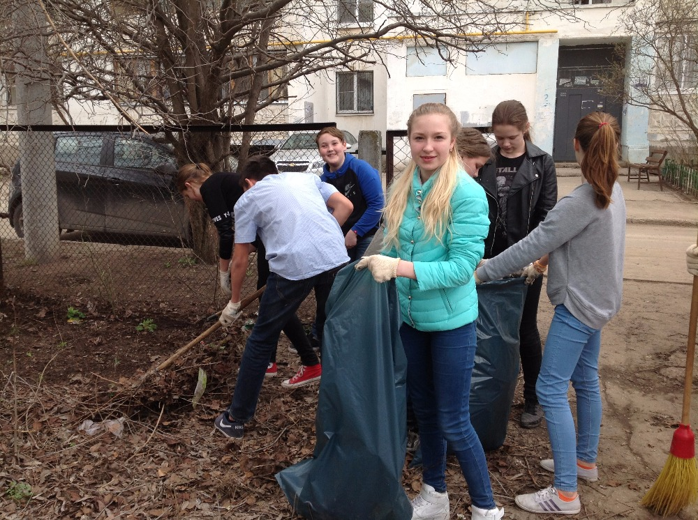 Экологические работы на пришкольном участке